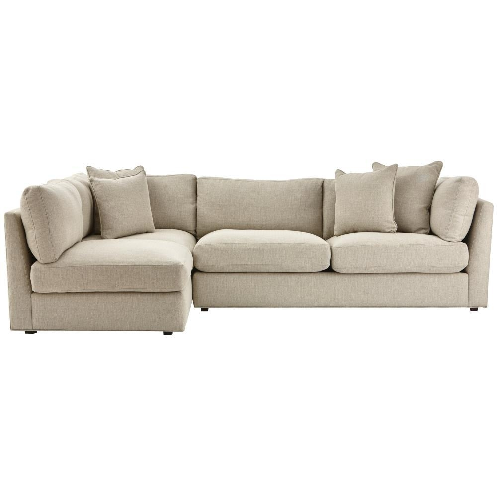 Sectionals – Living Room Furniture – The Home Depot Within Jobs Oat 2 Piece Sectionals With Left Facing Chaise (View 8 of 25)
