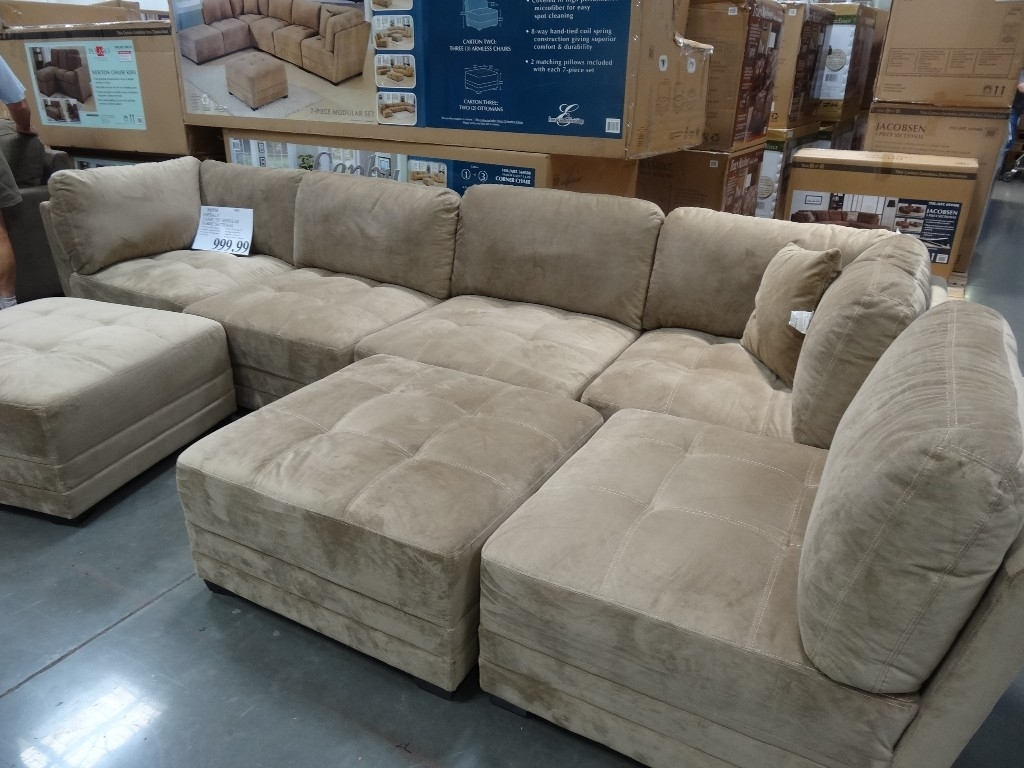 Sectionals Sofas Costco | Home Decoration Club Regarding Burton Leather 3 Piece Sectionals With Ottoman (Image 22 of 25)