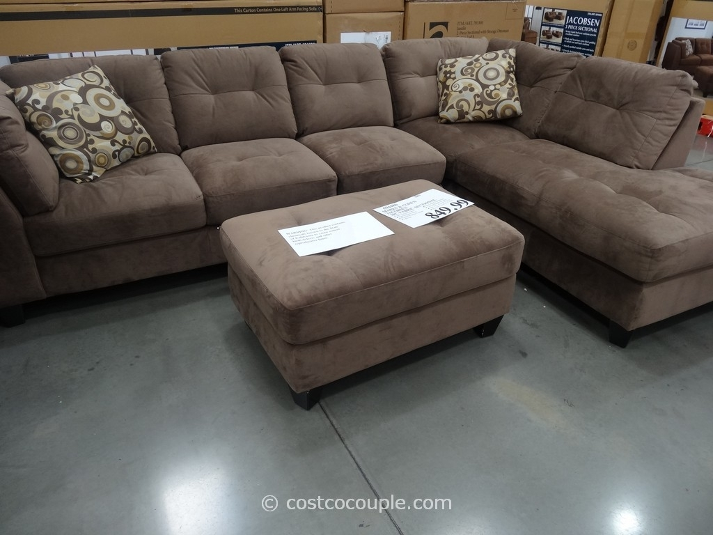 Sectionals Sofas Costco | Home Decoration Club Regarding Burton Leather 3 Piece Sectionals With Ottoman (Image 23 of 25)