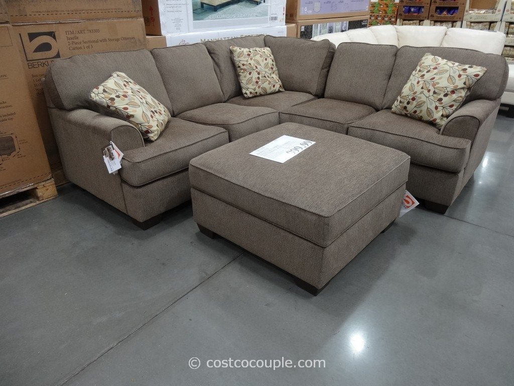Sectionals Sofas Costco | Home Decoration Club Regarding Burton Leather 3 Piece Sectionals With Ottoman (Image 21 of 25)