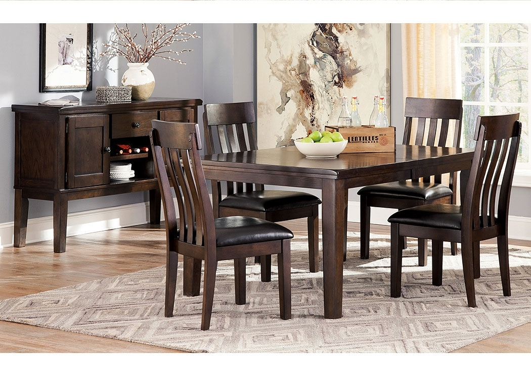Select Imports Furniture And Decor Haddigan Dark Brown Rectangle Inside Craftsman 9 Piece Extension Dining Sets With Uph Side Chairs (View 1 of 25)