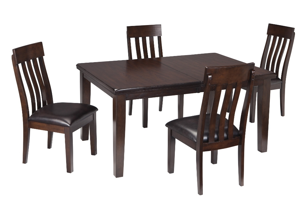 Select Imports Furniture And Decor Haddigan Dark Brown Rectangle With Regard To Craftsman 7 Piece Rectangle Extension Dining Sets With Side Chairs (Image 23 of 25)