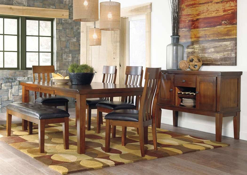 Select Imports Furniture And Decor Ralene Rectangular Extension With Craftsman 9 Piece Extension Dining Sets With Uph Side Chairs (Image 19 of 25)