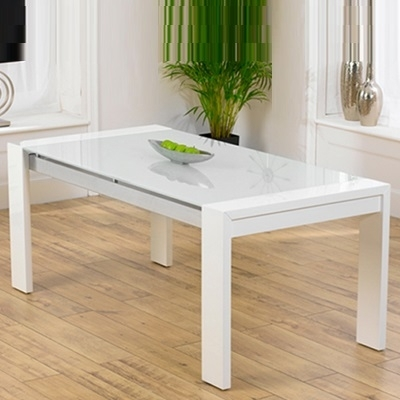 Selina White Gloss And Glass Dining Table – Robson Furniture Throughout White Gloss And Glass Dining Tables (Image 20 of 25)