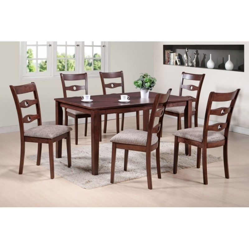 Senegal Dining Table | 6 Seater Dining Set With 6 Seat Dining Tables And Chairs (Image 23 of 25)