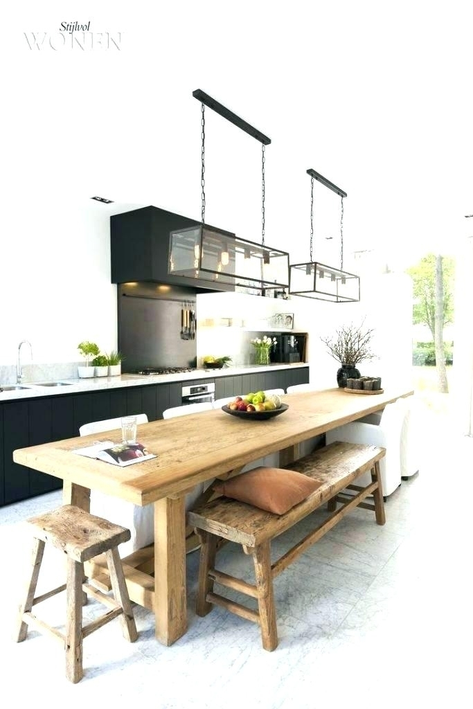 Sensational Narrow Dining Table With Bench | Bank Of Ideas Throughout Thin Long Dining Tables (View 11 of 25)