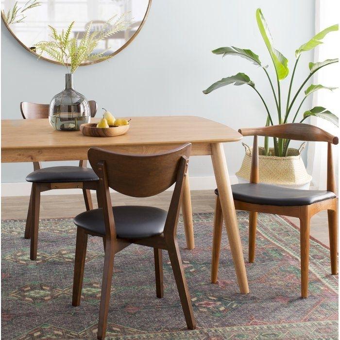 Septimus Side Chair #skandinavischwohnen #skandinavischerlook #skan Within Chandler 7 Piece Extension Dining Sets With Wood Side Chairs (View 8 of 25)