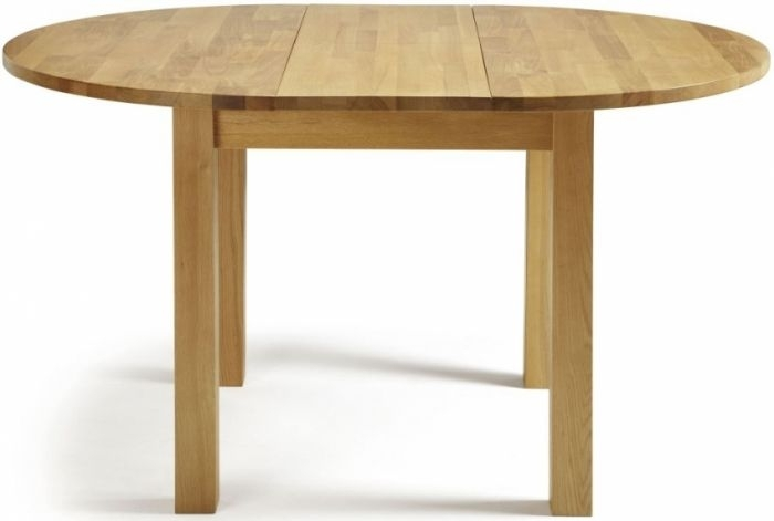 Serene Sutton Oak Round Extending Dining Table |First Furniture Throughout Round Extending Oak Dining Tables And Chairs (Image 24 of 25)