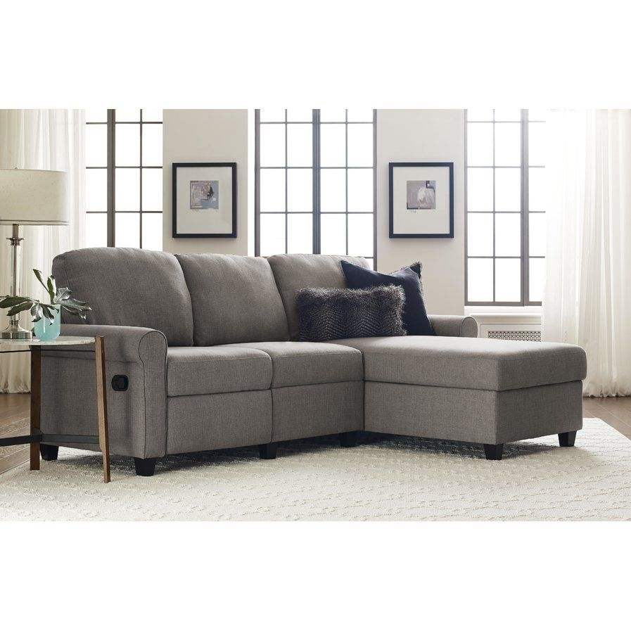 Serta Copenhagen Reclining Sectional With Left Storage Cha Within Delano Smoke 3 Piece Sectionals (Image 21 of 25)