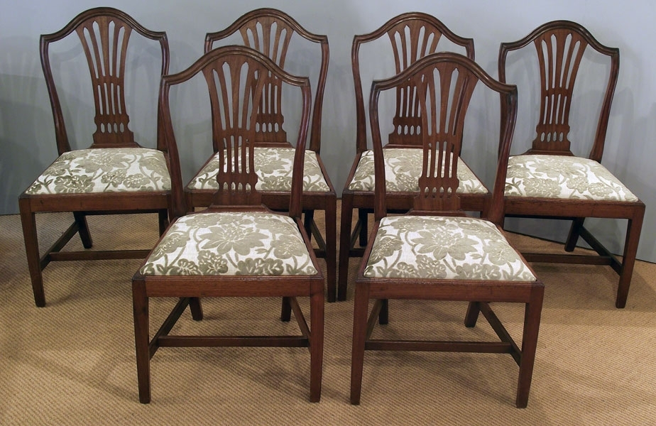 Set Of 6 Antique Mahogany Dining Chairs : Antique Dining Chairs With Regard To Mahogany Dining Tables And 4 Chairs (Image 22 of 25)