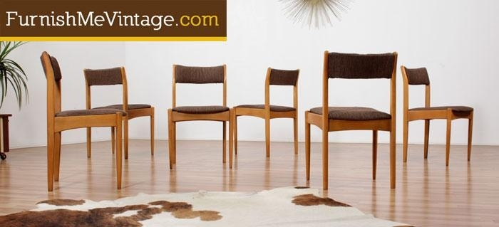 Set Of (6) Mid Century Morris Of Glasgow Dining Chairs Within Glasgow Dining Sets (Image 21 of 25)
