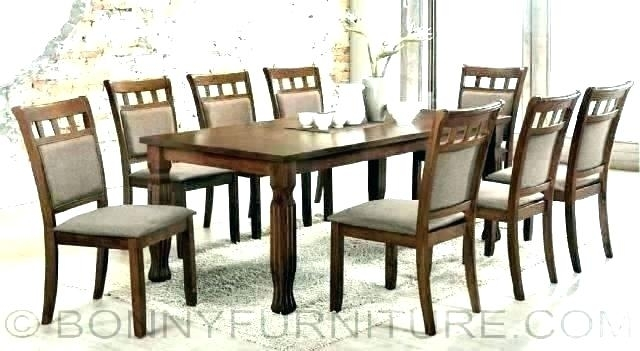 Set Of 8 Dining Chairs Dining Table With Set Of 8 Dining Chairs Set Inside Dining Tables And 8 Chairs Sets (Image 22 of 25)