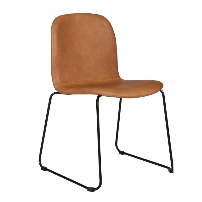 Seth Leather Dining Chairclickon Furniture   Clickon Furniture Intended For Leather Dining Chairs (View 21 of 25)