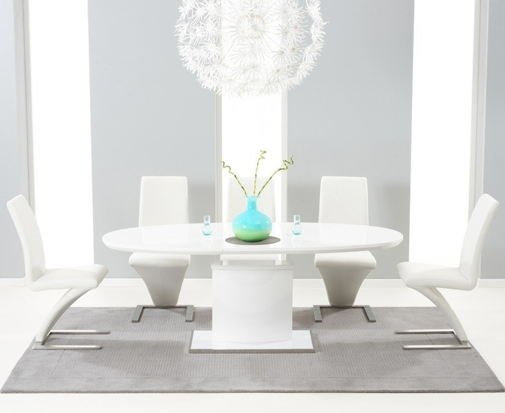 Seville 160Cm White High Gloss Extending Dining Table | Style Our Home With Extending Gloss Dining Tables (Image 16 of 25)