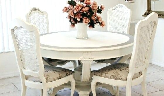 Shabby Chic Dining Chairs Sets Uk Kitchen Chair Pads Room Pad With Regard To Shabby Chic Dining Sets (View 18 of 25)