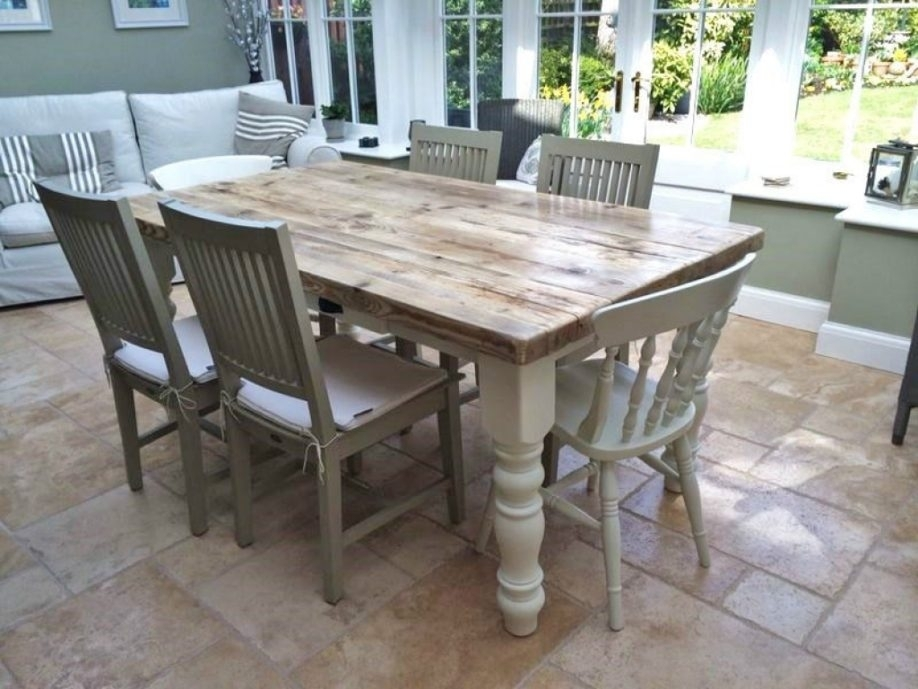 Shabby Chic Dining Room Furniture For Latest Shab Round Table And Pertaining To Shabby Dining Tables And Chairs (View 3 of 25)