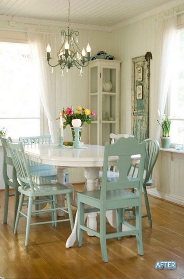 Shabby Chic Dining Room Ideas: Awesome Tables, Chairs And Pertaining To Shabby Chic Cream Dining Tables And Chairs (Image 17 of 25)