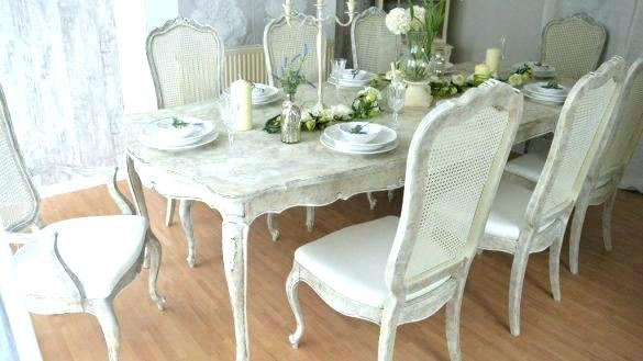 Shabby Chic Dining Room Sets Chairs Shabby Chic Dining Room Ch For Shabby Dining Tables And Chairs (Image 11 of 25)