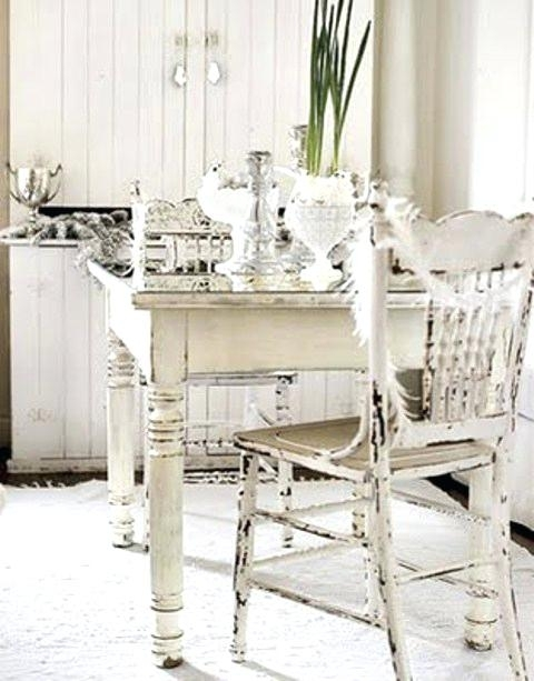 Shabby Chic Dining Table And Chairs Cheap Shabby Chic Dining Rooms With Regard To Shabby Chic Dining Sets (Image 17 of 25)