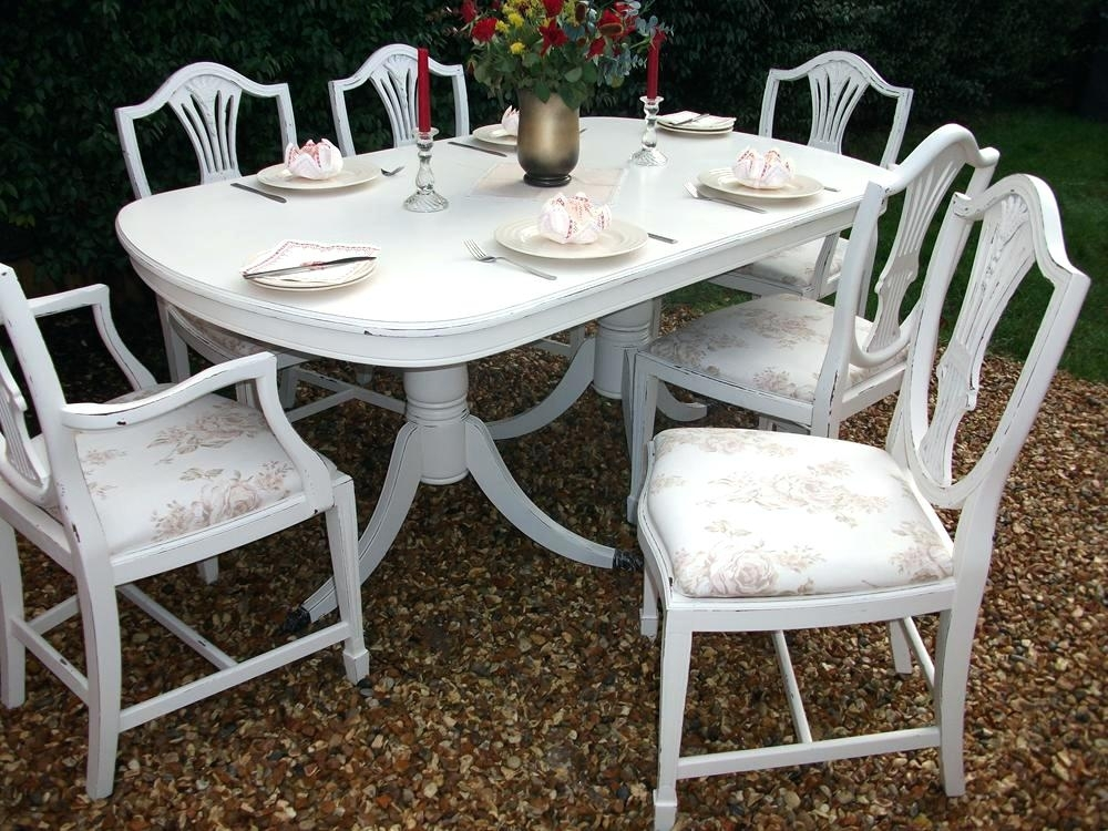 Shabby Chic Dining Table And Chairs – Infonesia In Shabby Chic Extendable Dining Tables (View 25 of 25)