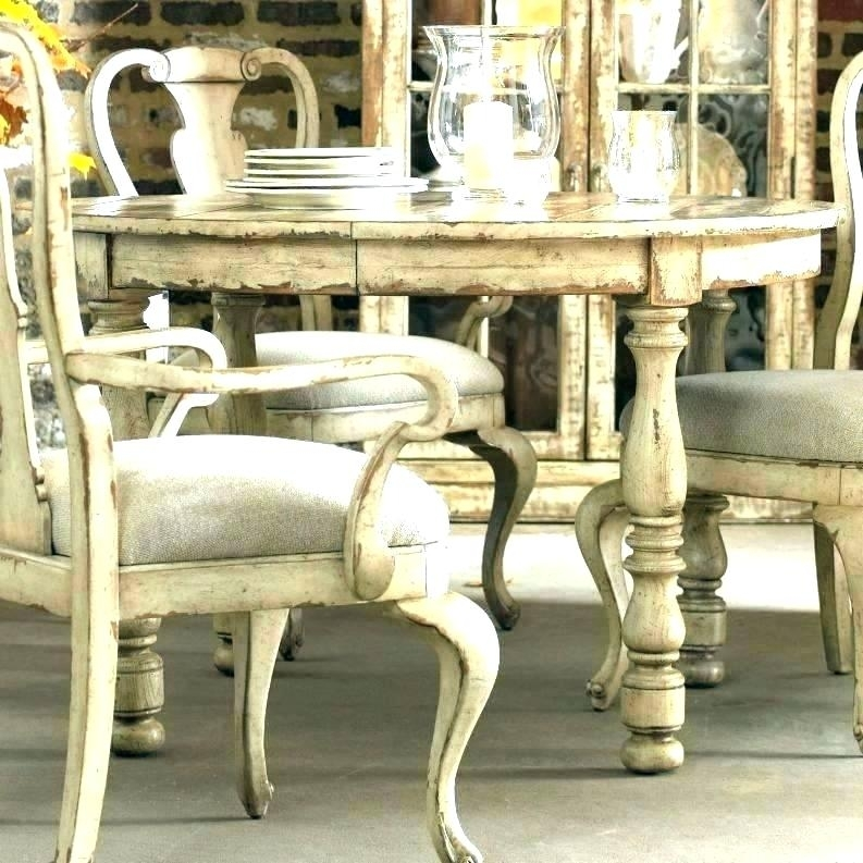 Shabby Chic Dining Table And Chairs Shabby Chic Dining Table Chairs Pertaining To Shabby Dining Tables And Chairs (View 24 of 25)