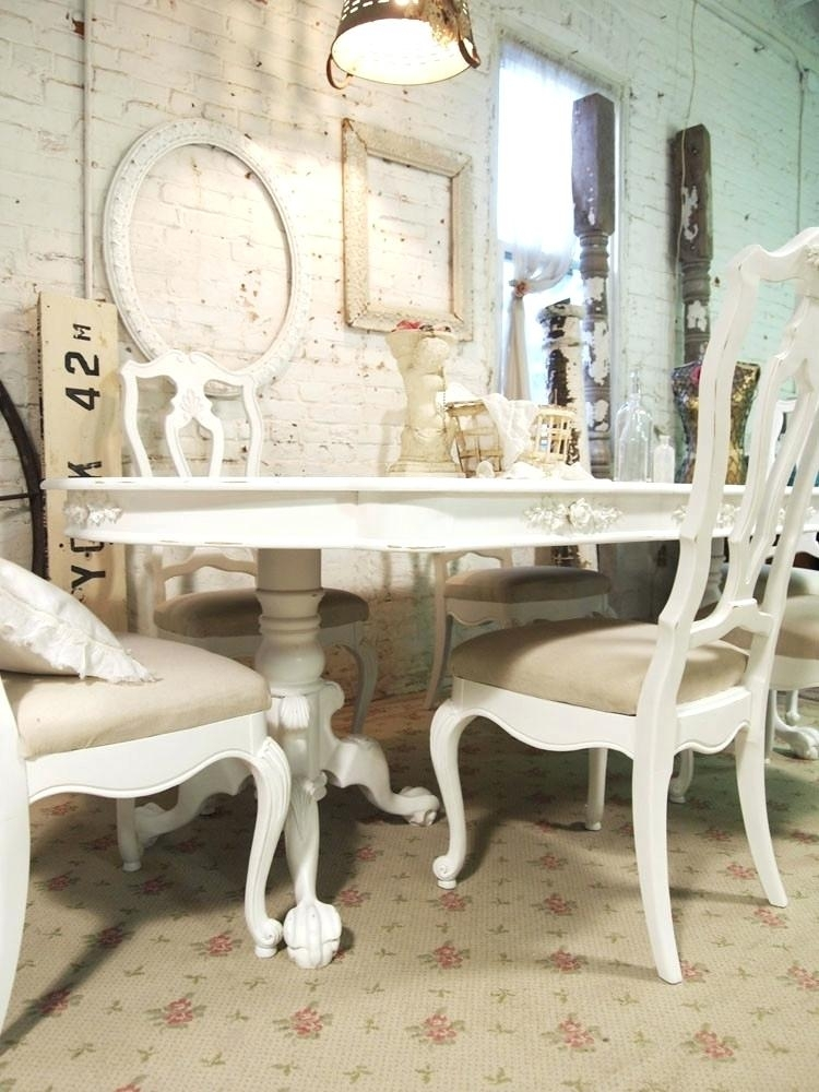 Shabby Chic Dining Table Beautiful White Shabby Chic Dining Table Pertaining To Shabby Chic Dining Chairs (View 11 of 25)