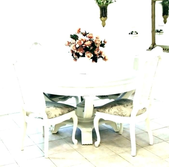 Shabby Chic Dining Table Chairs – Pizzaitaliana In Shabby Dining Tables And Chairs (Image 15 of 25)