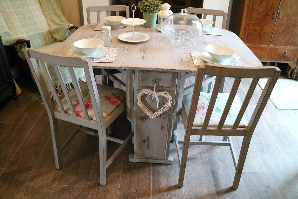 Shabby Chic Dining Table – Hifanclub For Shabby Dining Tables And Chairs (Image 13 of 25)