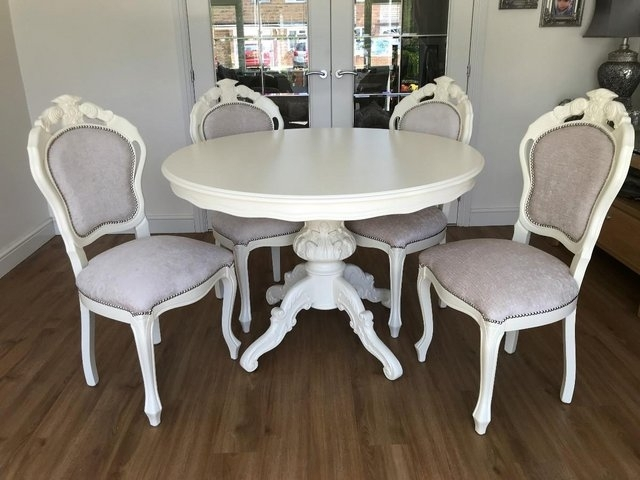 Shabby Chic Dining Table – Local Classifieds In Hertfordshire | Preloved Intended For Shabby Chic Cream Dining Tables And Chairs (Image 18 of 25)