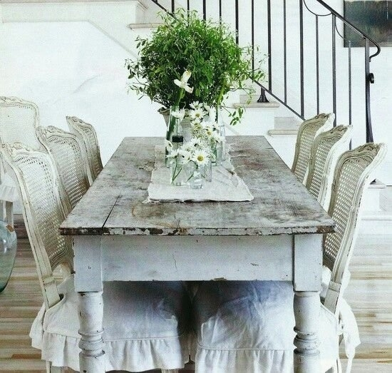 Shabby Chic Dining Table – Visual Hunt Within Shabby Chic Cream Dining Tables And Chairs (Image 19 of 25)