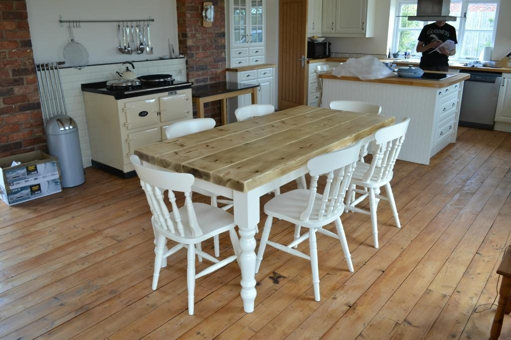 Shabby Chic Dining Tables Ring Pull Dining Chair With Regard To Shabby Dining Tables And Chairs (Image 18 of 25)