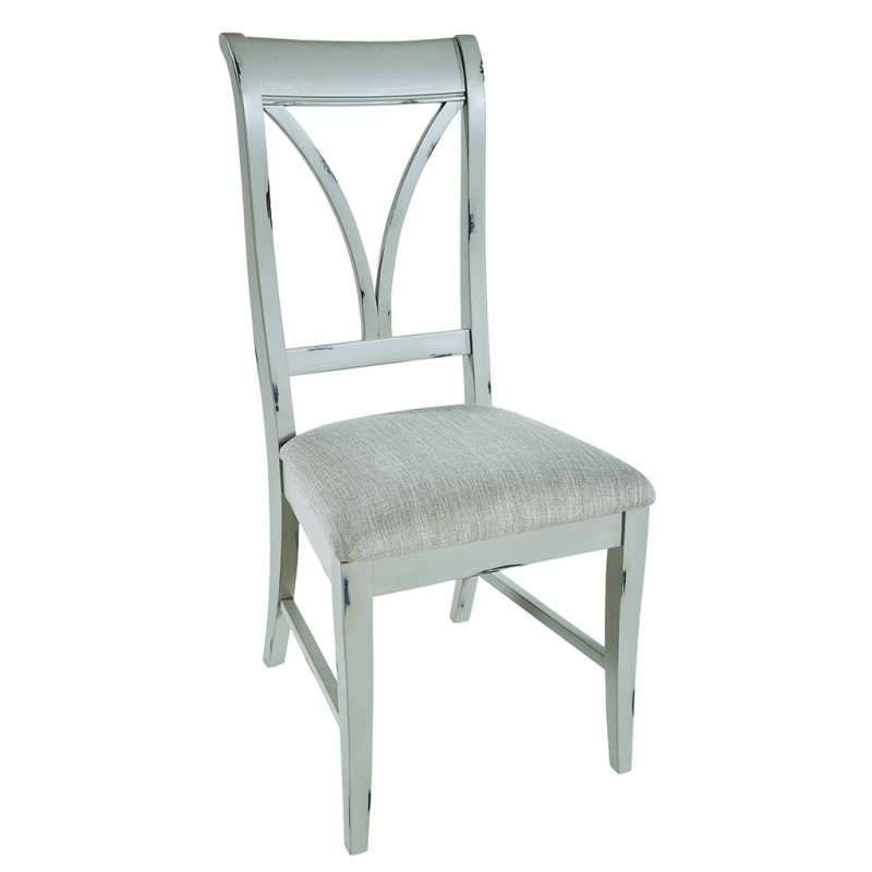 Shabby Chic Grey / Ivory Dining Chair (Set Of Two) | Hector With Shabby Chic Dining Chairs (View 19 of 25)