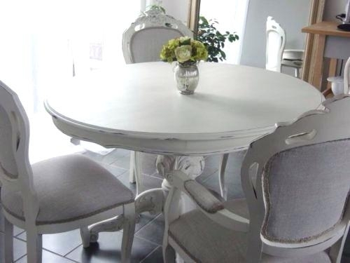 Shabby Chic Round Dining Table Gorgeous French Style Shabby Chic With Regard To French Chic Dining Tables (Image 24 of 25)