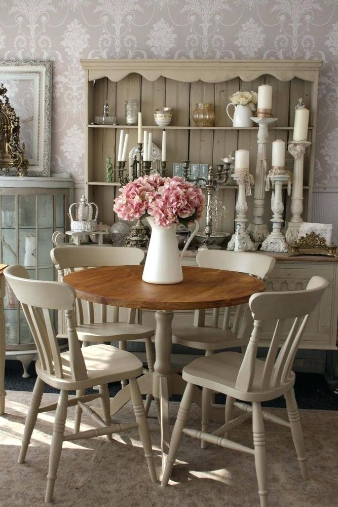 Shabby Chic Round Dining Table Like This Item Shabby Chic Dining with regard to Shabby Dining Tables And Chairs
