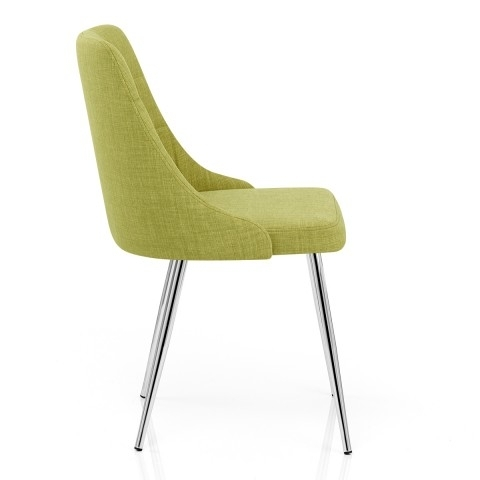Shanghai Dining Chair Green Fabric – Atlantic Shopping With Regard To Fabric Covered Dining Chairs (Image 19 of 25)