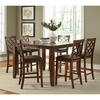 Shayne 7 Piece Counter Height Dining Set $1300 At Costco | Dining Inside Caden 7 Piece Dining Sets With Upholstered Side Chair (Image 16 of 25)