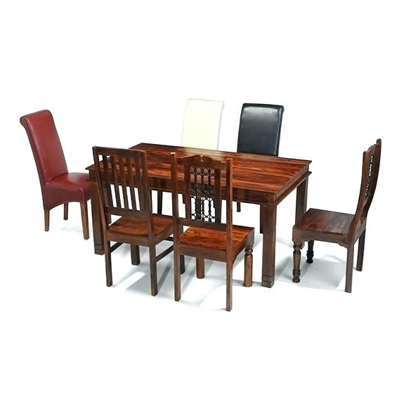 Sheesham Dining Table 8 Chairs Cm Chunky Dining Table And 8 Chairs Within Sheesham Dining Tables 8 Chairs (Image 22 of 25)