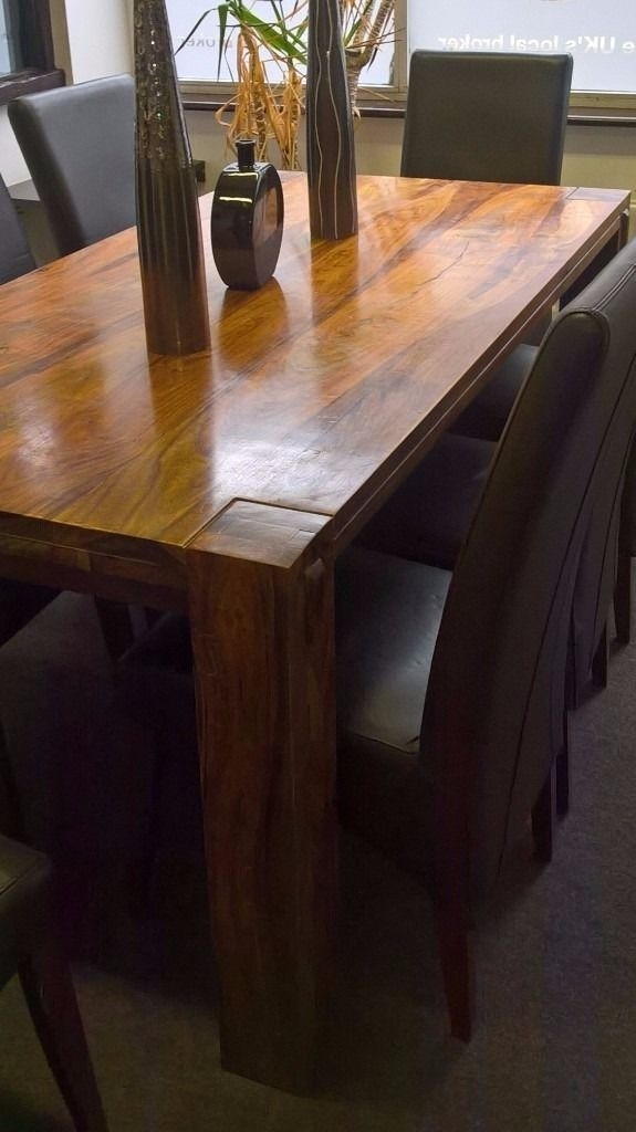 Sheesham Dining Table + 8 Chairs | In Sevenoaks, Kent | Gumtree Regarding Sheesham Dining Tables 8 Chairs (Image 20 of 25)