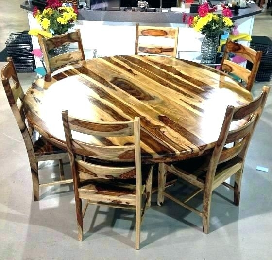 Sheesham Dining Table And Chairs With 2 3 Piece Set Round For Sheesham Dining Tables And Chairs (Image 20 of 25)