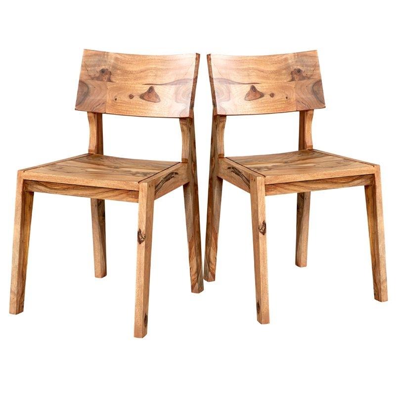 Sheesham Wood Dining Chairs Pair – Jodhpur Intended For Sheesham Dining Chairs (Image 21 of 25)