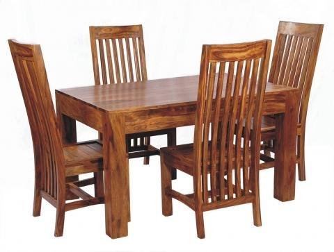 Sheesham Wood Dining Set, 6 Seater Dining Set, Wooden Dining Set Inside Sheesham Wood Dining Tables (Image 19 of 25)