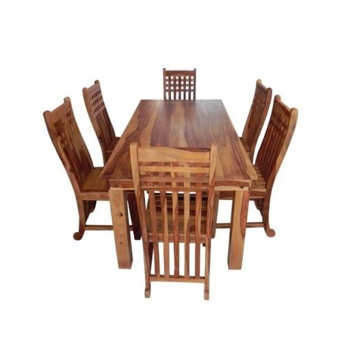 Sheesham Wood Dining | Sheesham Dining Table Online | Solid Wood Throughout Sheesham Wood Dining Tables (Image 18 of 25)