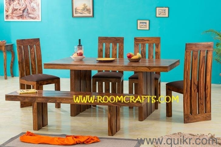 Sheesham Wood Home Furniture Dining Sets Online Furniture Stores With Regard To Dining Tables Chairs (View 14 of 25)