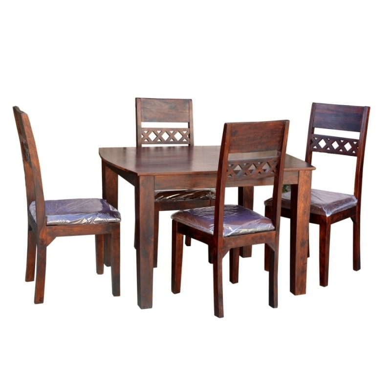 Sheesham Wood Oxr Dining 4 Seater – Rightwood Furniture For Sheesham Wood Dining Chairs (Image 21 of 25)