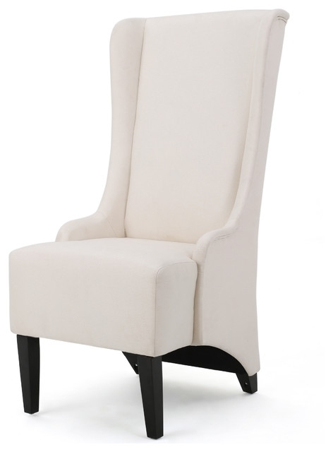 Sheldon Traditional Design High Back Fabric Dining Chair Within High Back Dining Chairs (Image 19 of 25)