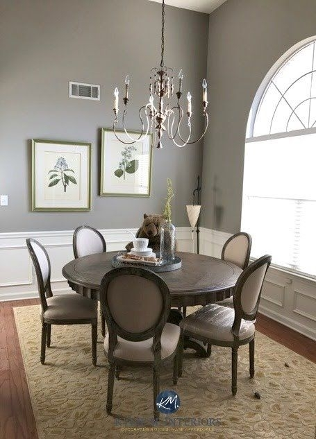 Sherwin Williams : The 10 Best Gray And Greige Paint Colours | Paint Inside Combs 5 Piece Dining Sets With  Mindy Slipcovered Chairs (Image 22 of 25)