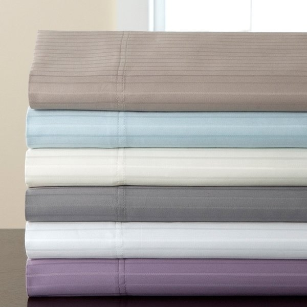 Shop 800 Thread Count Valencia Stripe Cotton Rich 6 Piece Sheet Set Within Valencia 72 Inch 6 Piece Dining Sets (View 14 of 25)