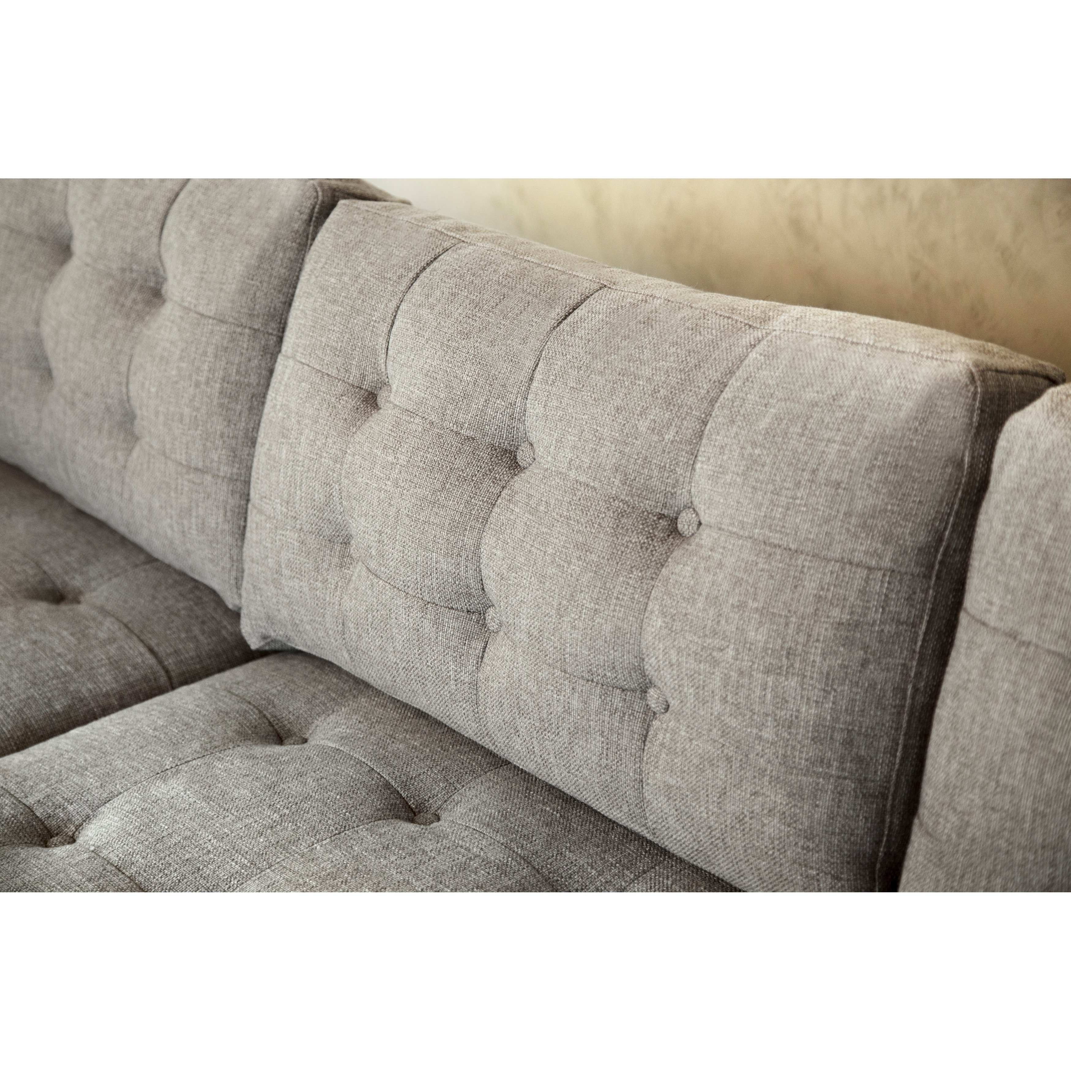 Shop Abbyson Aiden Grey Mid Century Tufted Sectional – On Sale Regarding Aidan 4 Piece Sectionals (View 22 of 25)