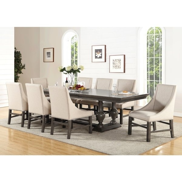 Shop Abbyson Marseilles City Grey 9 Piece Dining Set – Free Shipping Inside Logan 6 Piece Dining Sets (Image 17 of 25)