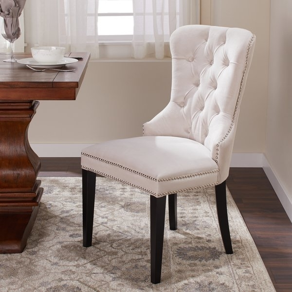 Shop Abbyson Versailles Tufted Velvet Dining Chair – On Sale – Free Pertaining To Velvet Dining Chairs (Image 22 of 25)
